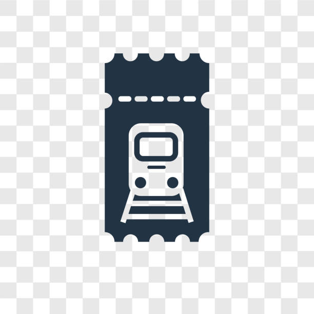 Train ticket vector icon isolated on transparent background, Train ticket transparency logo design Train ticket vector icon isolated on transparent background, Train ticket transparency logo concept train ticket stock illustrations