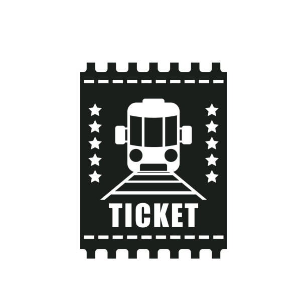 train ticket train ticket. eps 10 vector file train ticket stock illustrations