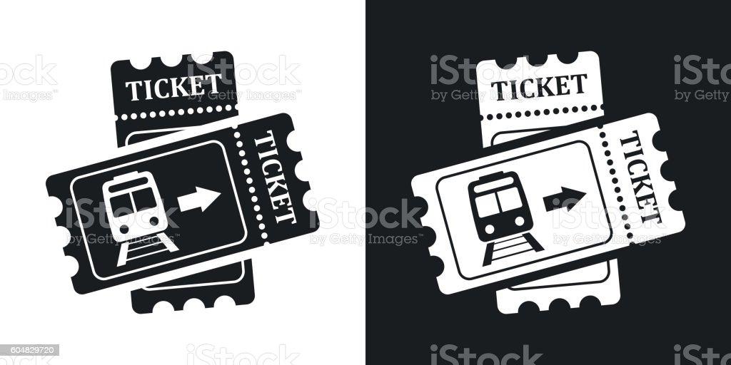 Train tickets icon, stock vector. Two-tone version – Vektorgrafik