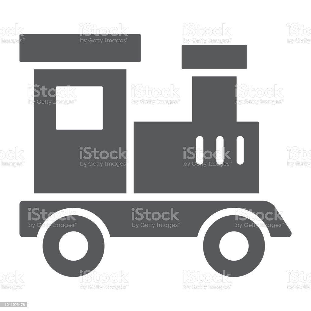 train toy glyph icon child and railroad locomotive sign vector