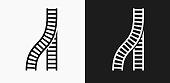 istock Train Tracks Icon on Black and White Vector Backgrounds 830573858