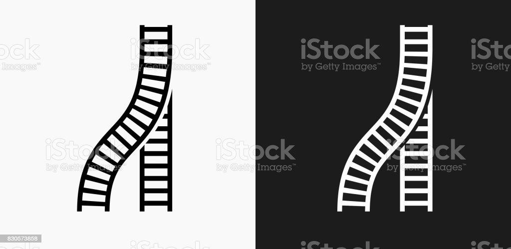 Zug-Tracks-Symbol auf schwarz-weiß-Vektor-Hintergründe – Vektorgrafik