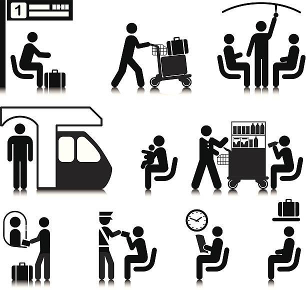 illustrations, cliparts, dessins animés et icônes de voyages en train - passager