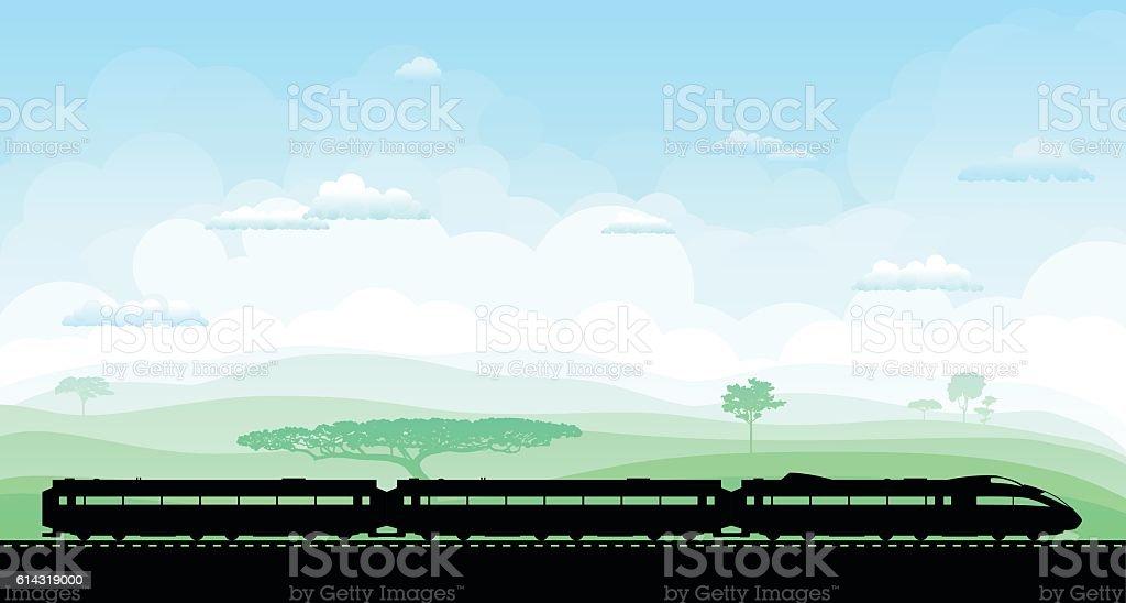 Train vector art illustration