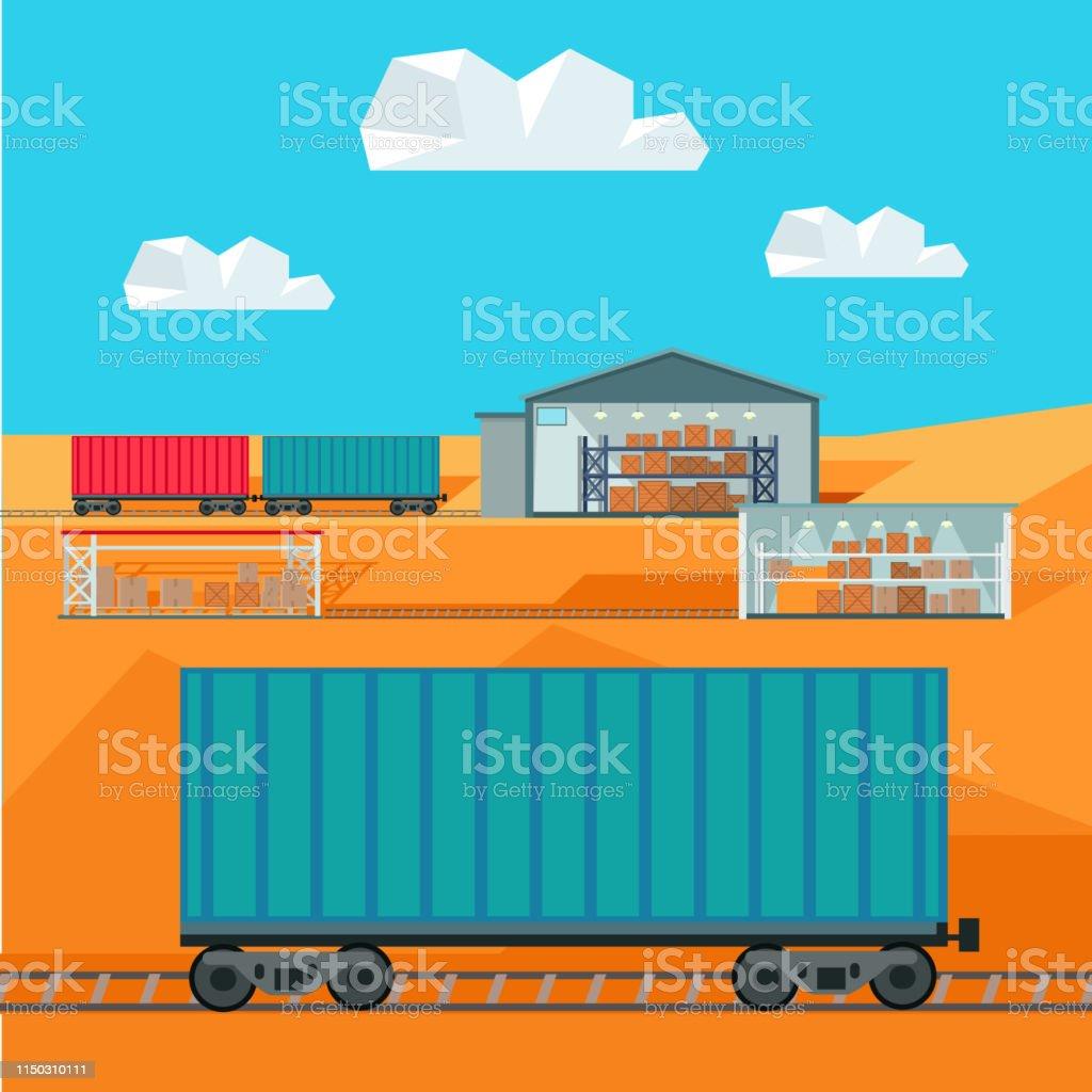 Train Worldwide Warehouse Delivering Logistics Stock
