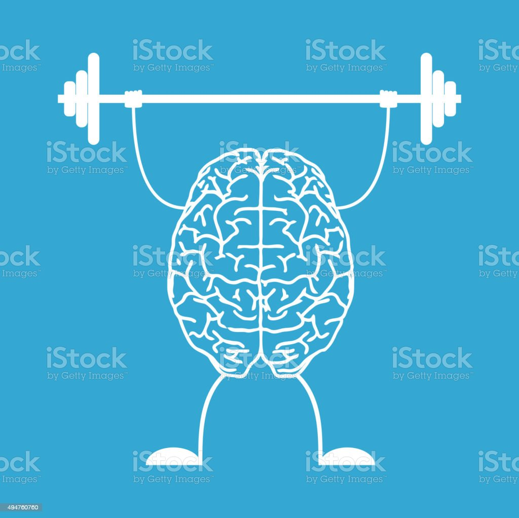 Train your brain. vector art illustration