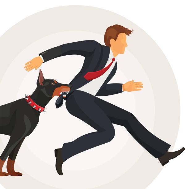 Image result for doberman dog chasing man