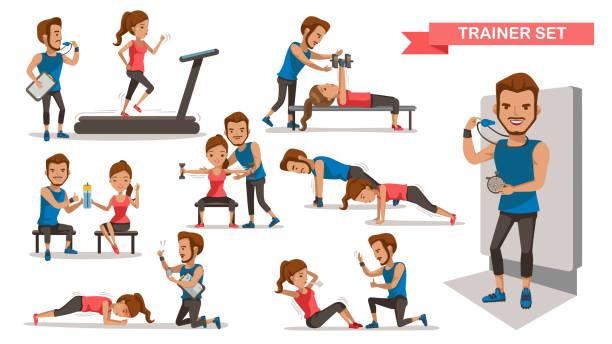 Trainer vector art illustration
