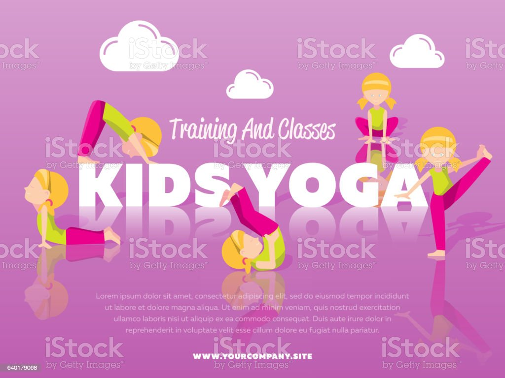 Training And Classes Kids Yoga Banner Stock Illustration Download Image Now Istock