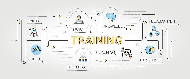 Training banner and icons - Illustration vectorielle