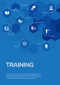 Training. Brochure Template Layout, Cover Design