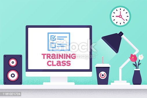 istock Training Class Modern Design Layout 1181021724