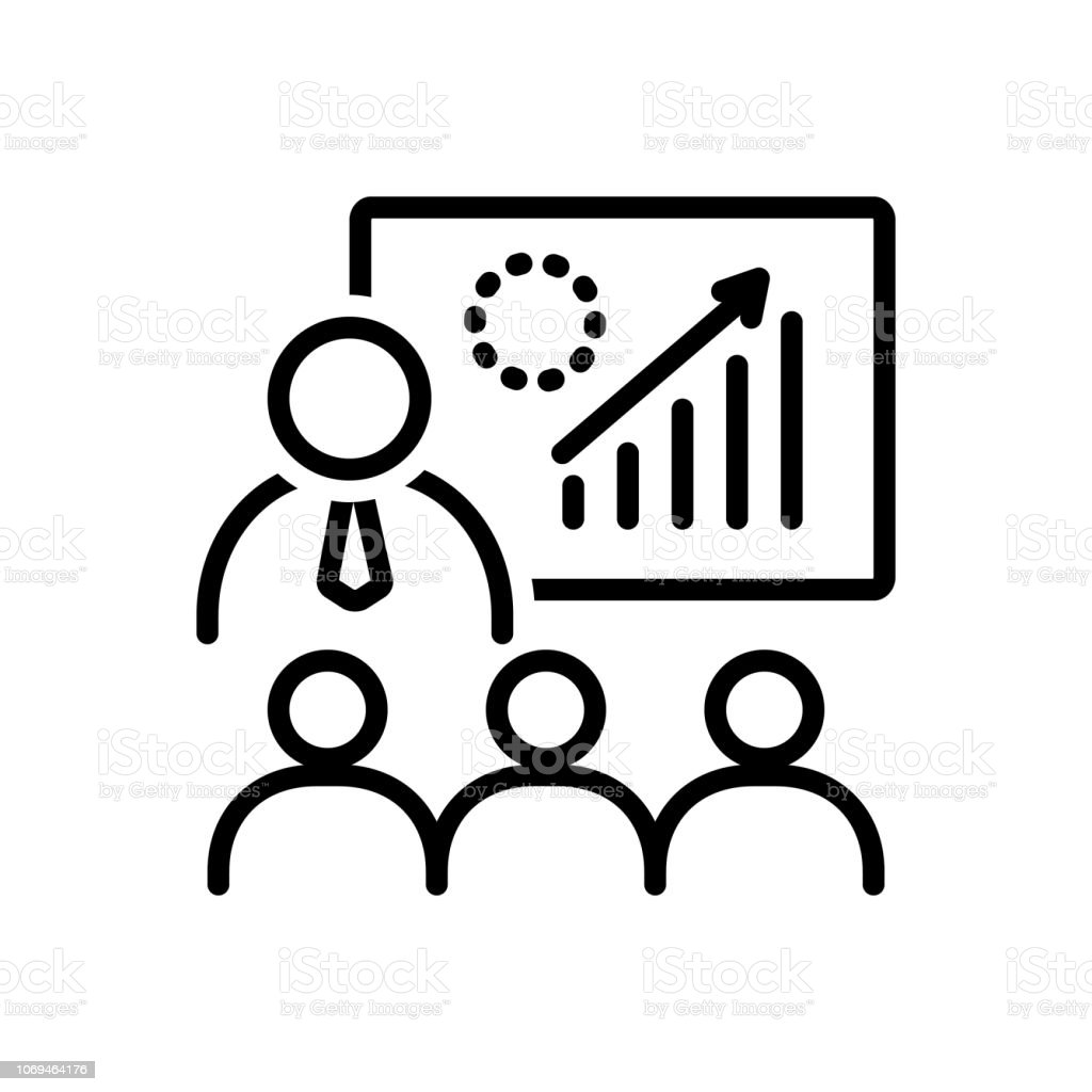 Icon for training, coach, professional, leadership
