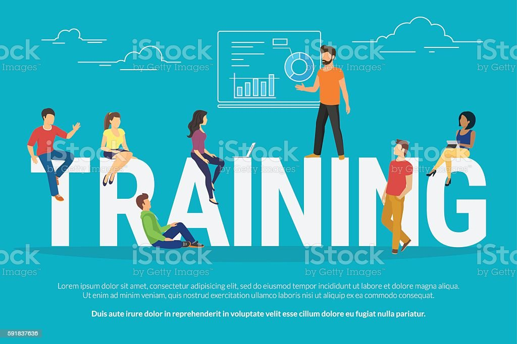 Training concept illustration vector art illustration