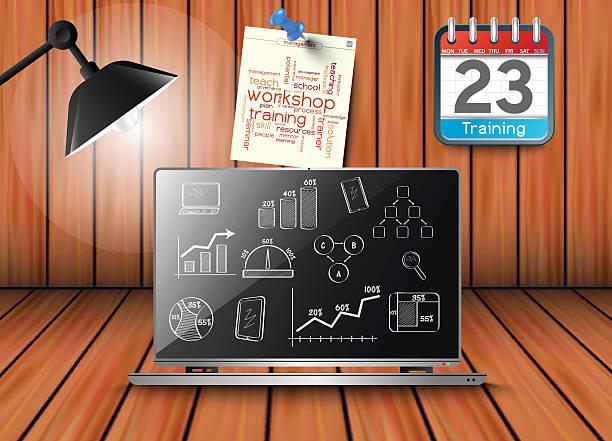 トレーニング、mylearning 、スキル - トレーニングのカレンダー点のイラスト素材/クリップアート素材/マンガ素材/アイコン素材