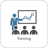 Training Icon. Business Concept. Flat Design.