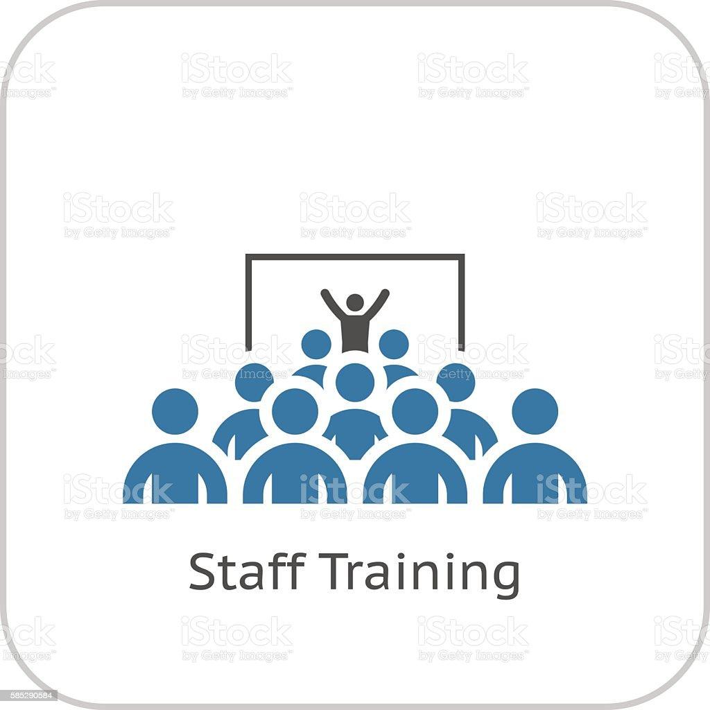 Training Icon. Flat Design. vector art illustration