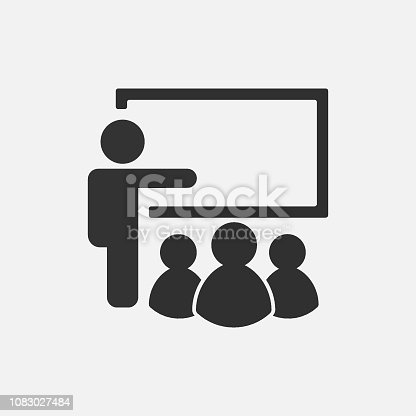 Training icon isolated on white background. Vector illustration. Eps 10.