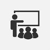 Training icon isolated on white background. Vector illustration. Eps 10.