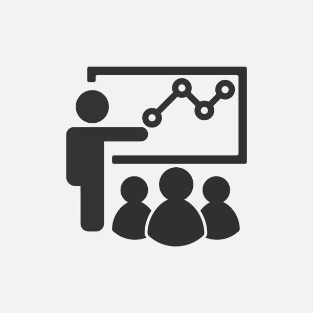 ilustrações de stock, clip art, desenhos animados e ícones de training icon isolated on white background. vector illustration. - training