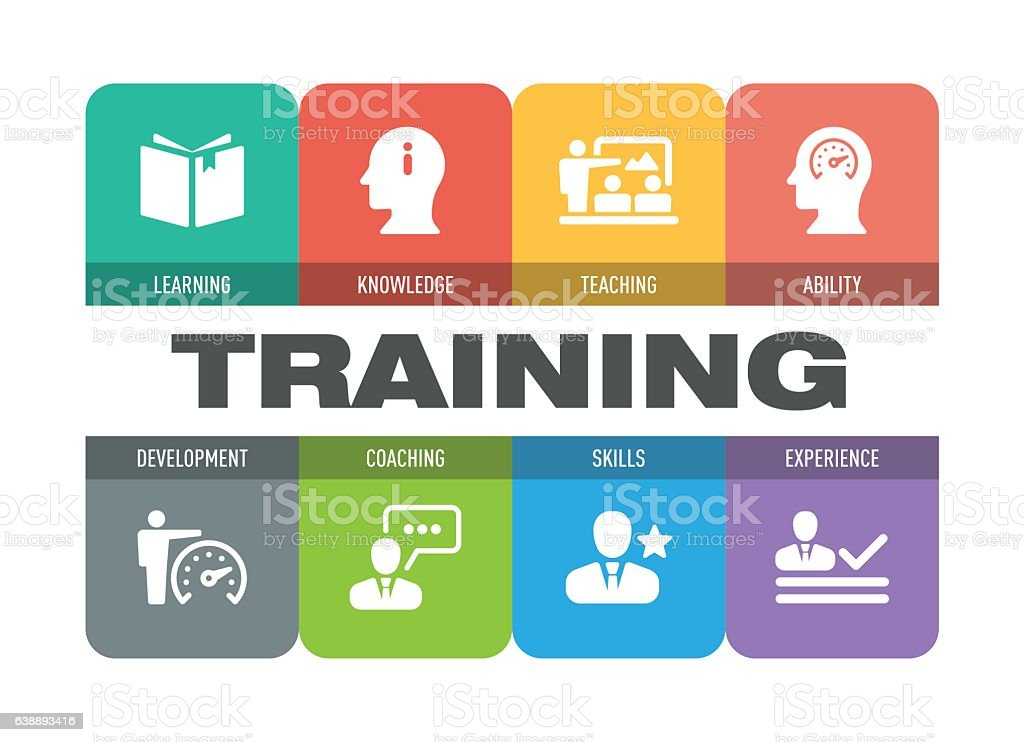 training icon set stock illustration download image now