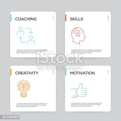 istock Training Infographic Design Template 912497820