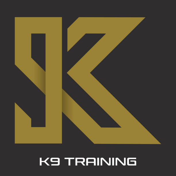 K9 training logo K9 training logo k logo illustrations stock illustrations