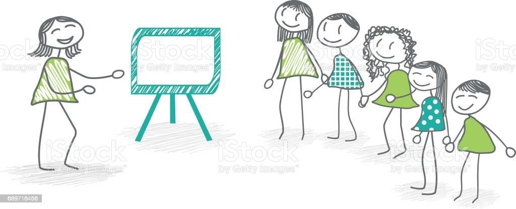 Training or seminar vector art illustration