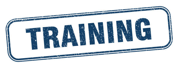 training stamp. training square grunge sign. label vector art illustration
