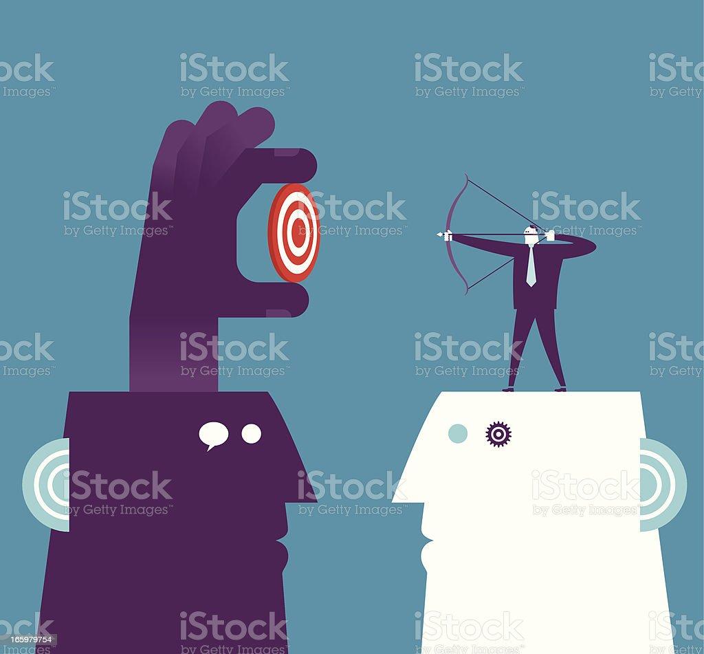 Training vector art illustration