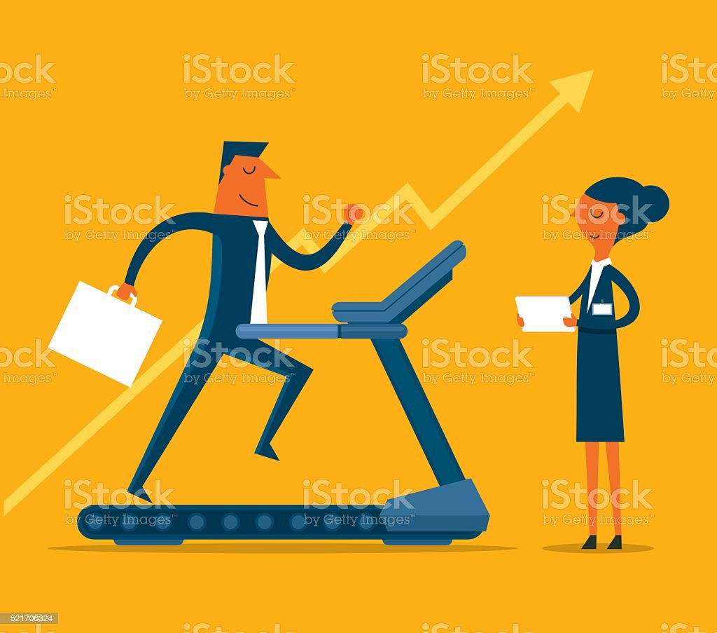 Training vector art illustration