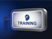 training word on billboard