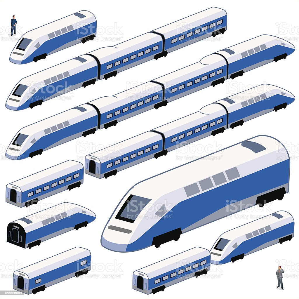 Trains  - Back and Front royalty-free stock vector art