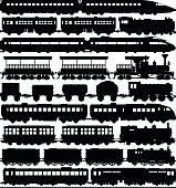 Train silhouettes.
