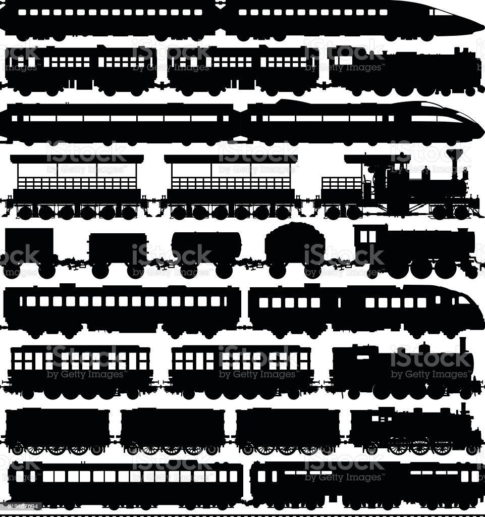 電車(馬車簡単に仕切ったまたは複製 ベクターアートイラスト