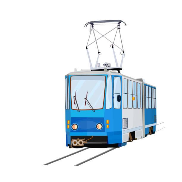 bildbanksillustrationer, clip art samt tecknat material och ikoner med spårvagn isolerad på vit bakgrund. - karpaterna tåg