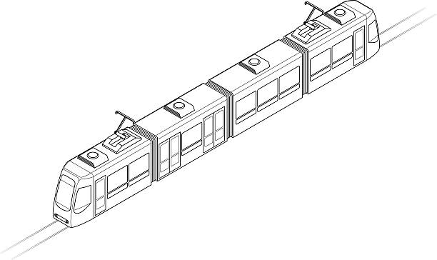 Royalty free light rail clip art vector images