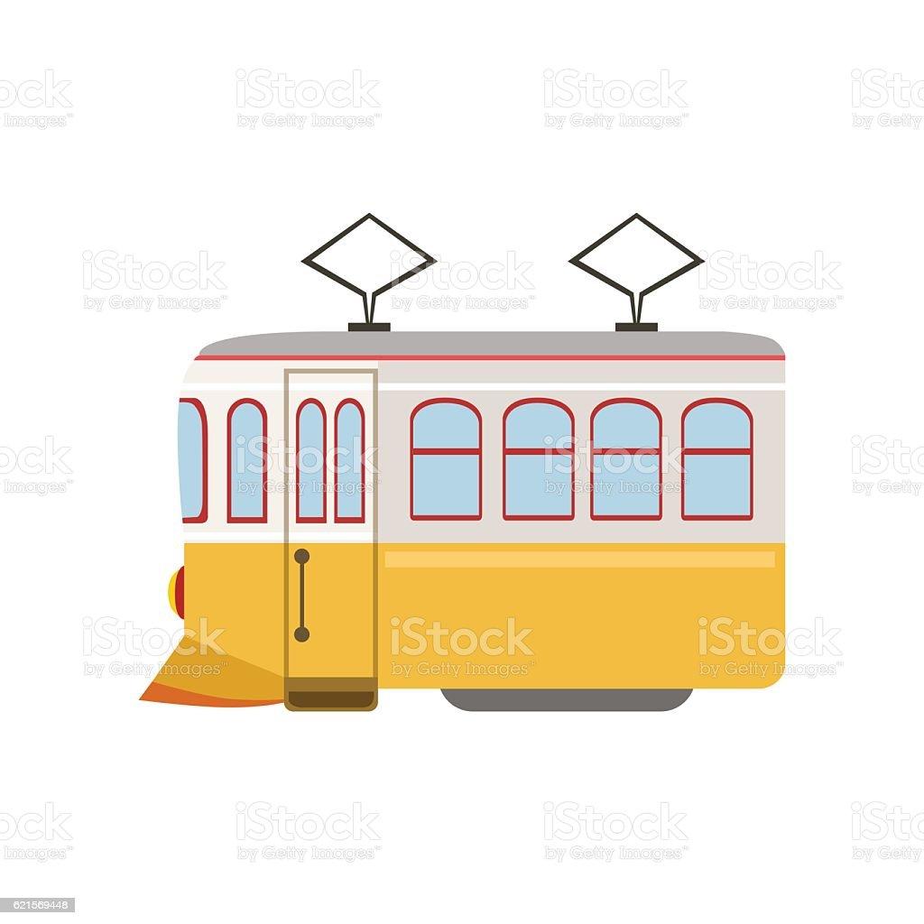 Tram Public Transportation Portuguese Famous Symbol tram public transportation portuguese famous symbol - immagini vettoriali stock e altre immagini di bianco royalty-free