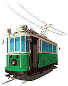 Vector Illustration of Tramway in Sketchy Style