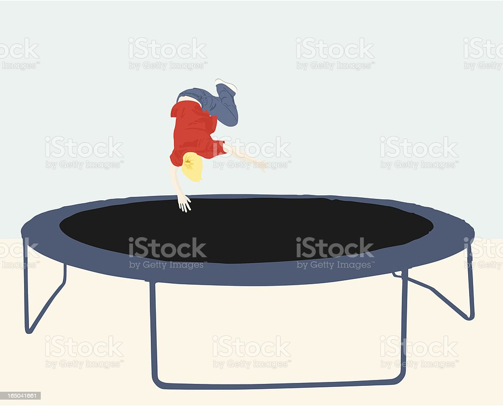 Trampoline Jump (vector) royalty-free trampoline jump stock vector art & more images of bouncing