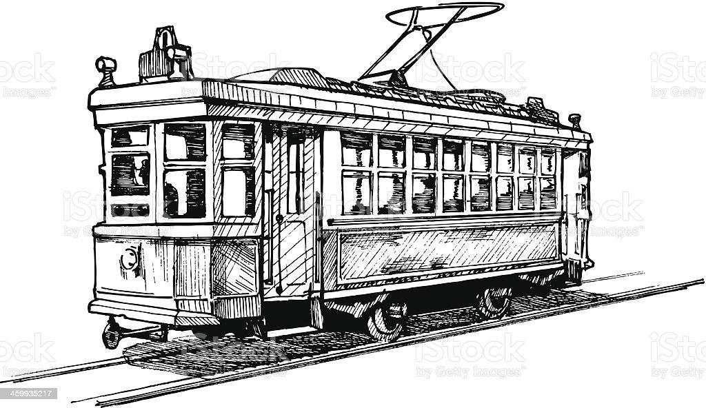 tramway vector art illustration