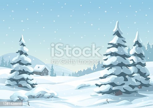 istock Tranquil Snowy Winter Scene 1281438855