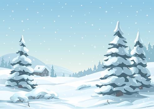 Tranquil Snowy Winter Scene