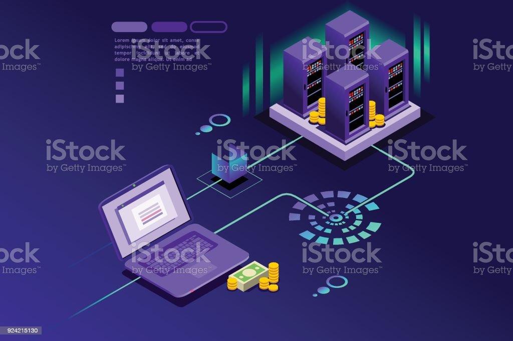 Registros de transacciones de cliente internet - ilustración de arte vectorial