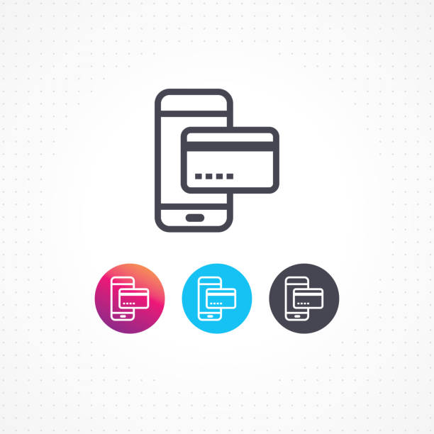 stockillustraties, clipart, cartoons en iconen met transactie - mobiele betaling