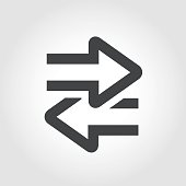 istock Transfer Icon - Iconic Series 656089676
