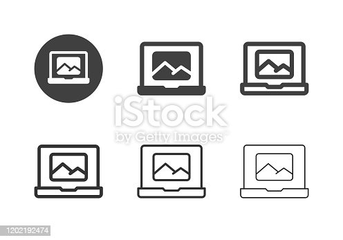 Transfer Image Icons Multi Series Vector EPS File.