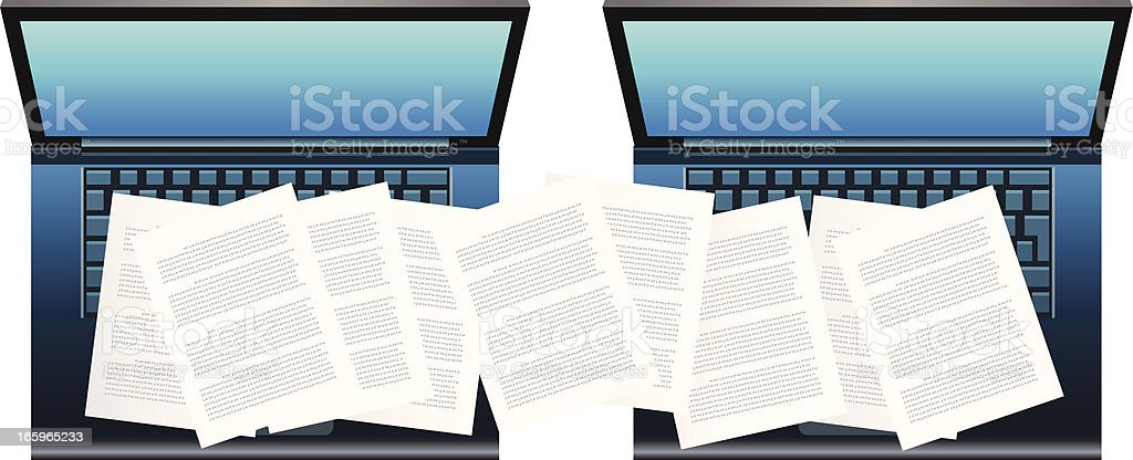 Transfer of Documents royalty-free stock vector art