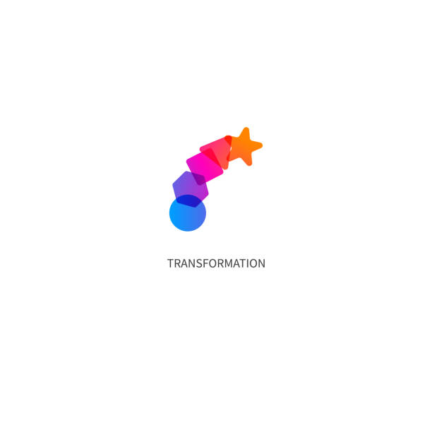 transform, change, growth icon vector art illustration