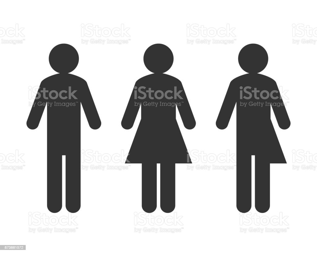 Transgender or unisex pictogram concept vector art illustration